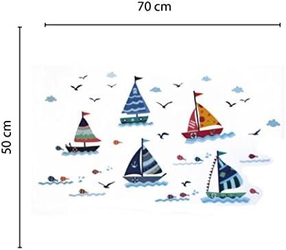 Nacnic Vinilo Decorativo Pegatina de Pared Adhesiva Barcos en el océano para dormitorios Infantiles, Zonas de Juego, guarderias.Motivos Marineros: Amazon.es: Hogar
