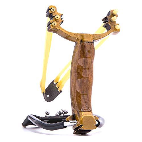 (DMAR Slingshot Hunting Wrist Rocket Sling Shot Professional Slingshot Stainless Steel Folding Sling-Shot for Adult Men High Velocity Capatult Singshot Rubber Bands Outdoor Hunting Fishing Accessories)