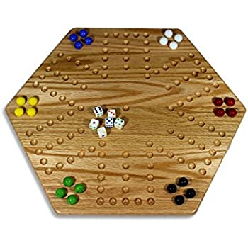 Amazon solid oak double sided aggravation wahoo board game solid oak double sided aggravation wahoo board game set 20 wide maxwellsz
