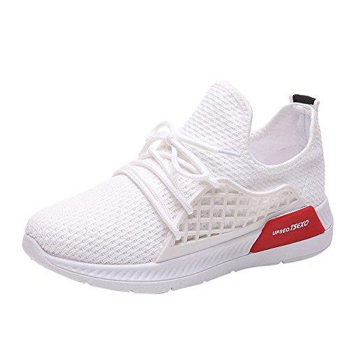 Deportivas para Zapatillas Blanco Sneakers Deporte para Running Correr Zapatos Transpirables Gimnasio Casual Mujer 4xAXxwz