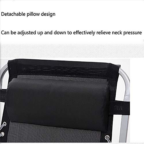 Hopfällbar stol, bärbar inomhusavlastare, Siesta-stol, andningsbar anti-svett lounge-stol, ergonomisk design, lämplig för kontor vardagsrum