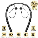 HBQ V4.2 Bluetooth Running Headphones Wireless Neckband Headset Sport Earphones CVC Noise Canceling