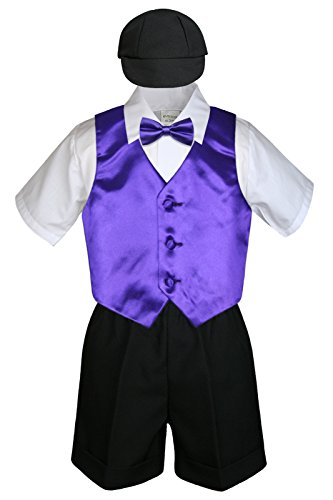 Toddlers Purple Black Shorts Suits product image