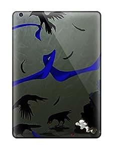 Waterdrop Snap-on Animal Bird Blue Dress Flowers Funakura Gloves Jpeg Artifactsoriginal Thighhighs Case For Ipad Air