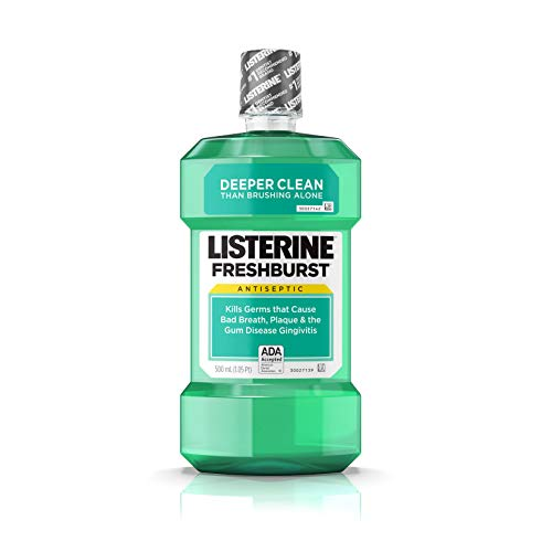 Listerine Freshburst Antiseptic Mouthwash with Germ-Killing Oral Care Formula to Fight Bad Breath, Plaque and Gingivitis, 500 mL from Listerine