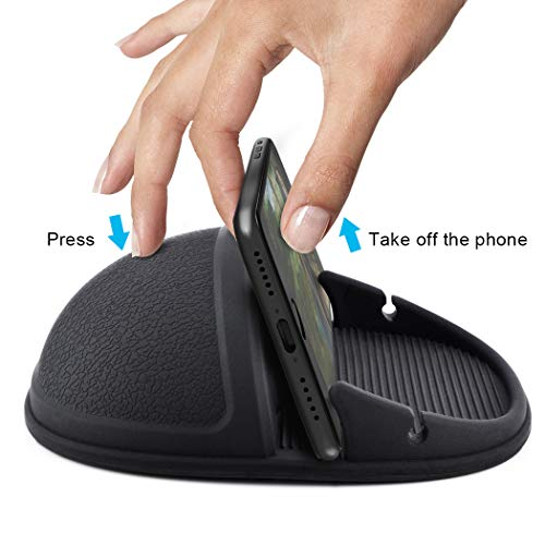 Car Phone Holder, HokoAcc Car Phone Mount Anti-slip Silicone Dashboard Car Pad Mat, for iPhone X/8 Plus/7 Plus/6/6S Plus, Samsung Galaxy S8 Plus/Note 8/S7 and Other 3.0-7 inch Devices by HokoAcc (Image #6)