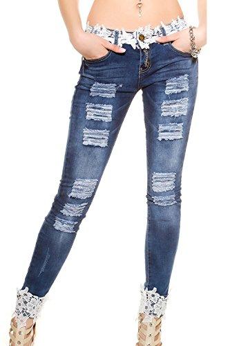 La Dtresse Des Pantalons Jeans Dchir Trous Cul Maigre Pantalons blue