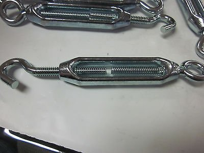 ~ 10 ~ TURNBUCKLE 1/4'' x 5-3/8'' ZINC PLATED STEEL EYE/HOOK TURN BUCKLES ~ NEW