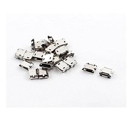 Amazon.com: eDealMax SMT SMD Micro USB tipo B 5-Pin Gato ...