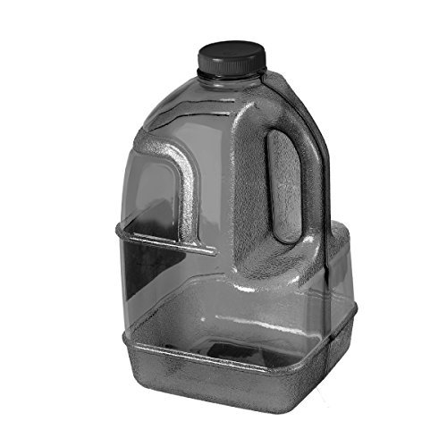 GEO 1 Gallon (128oz) BPA Free Reusable Leak-Proof Drinking Water Bottle Jug w/48mm Screw Cap (Black)
