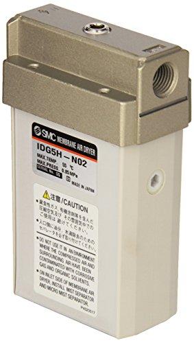SMC IDG5H-N02 Membrane Air Dryer, 1/4'' NPT, Outlet Air Flow 50 L/min; Purge Air Flow 12 L/min, -15 degrees Celsius Dew Point by SMC Corporation