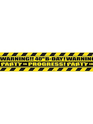 [The Party Continuous 40th Birthday Party Scene of the Party Tape Decoration, Multi , 3