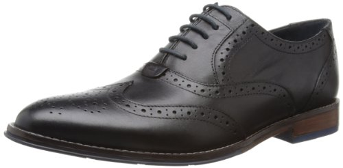 Hush Puppies  Style Brogue,  Herren Oxford, Noir (Black Leather), Gr. 45 EU (10 UK, 11 US)