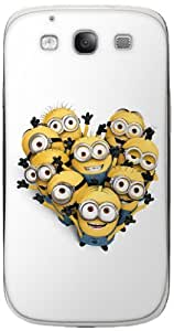 Zing Revolution MS-DMT220415 Despicable Me 2 - Minion Heart Cell Phone Cover Skin for Samsung Galaxy S III - Retail Packaging - Multicolored