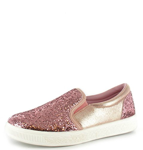 NEW WOMENS LADIES SLIP ON FLAT PLIMSOLLS SNEAKERS SKATER TRAINERS PUMP SHOE SIZE Pink ryZYWcc8B