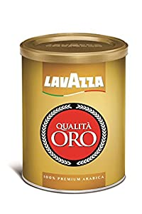 Lavazza Qualita Oro Ground Coffee Blend, Medium Roast, 8.8-Ounce Cans (Pack of 4) by Lavazza
