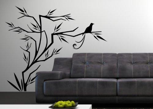 Wandtattooladen Wandtattoo - Baum Baum Baum mit Vogel Größe 160x134cm Farbe  weiß B013R80IAS | Meistverkaufte weltweit  899b10
