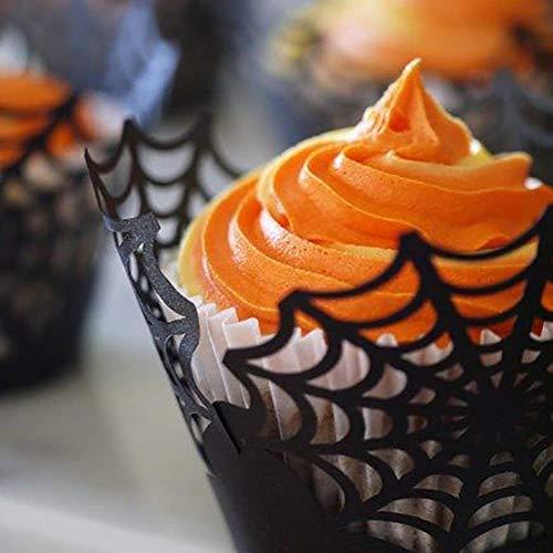 12pcs cupcake verpackungen spiderweb becher cup fall trays fr hochzeit halloween party geburtstag