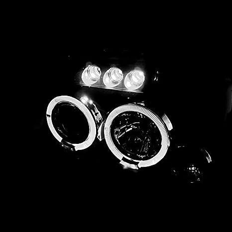 Amazon.com: Spec-D Tuning 2LHP-FRO01JM-TM Nissan Frontier Dual Halo Led Black Projector Head Lights Lamps Pair: Automotive