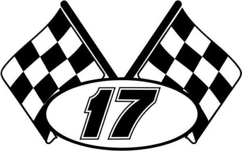 - Checkered Flag Nascar Racing Number 17 Graphic Car Truck Window Decal Sticker - Die cut vinyl decal for windows, cars, trucks, tool boxes, laptops, MacBook - virtually any hard, smooth surface