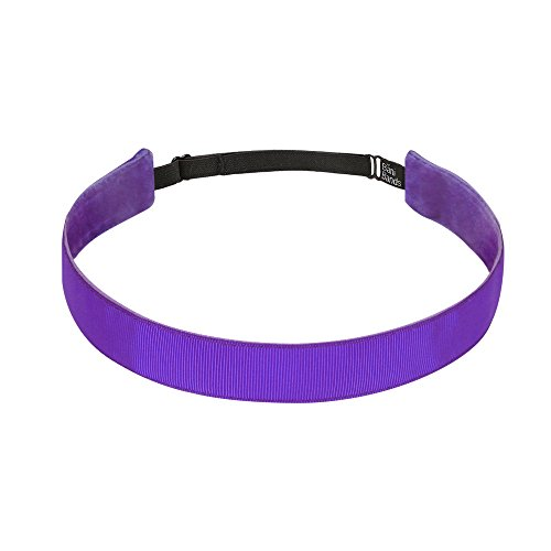 BaniBands Headbands for Women - Non Slip Adjustable Sports Head Bands - Made in USA - Perfect Headband for Active Women Stays in Place During Workout, Running, Yoga and More - Purple