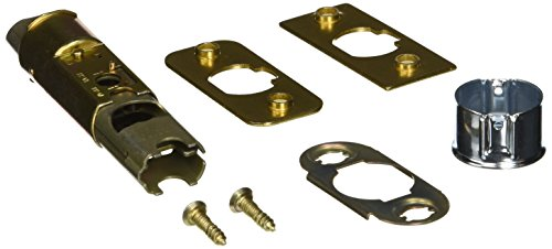 Kwikset 1825-18 6-Way Adjustable Dead Latch, Polished Brass