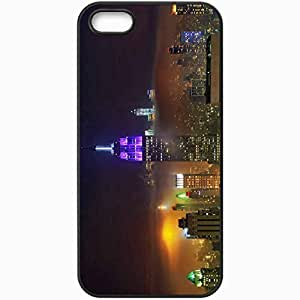 Protective Case Back Cover For iPhone 5 5S Case Night New York Black