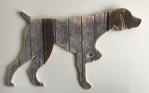German Shorthaired Pointer (GB) silhouette made with reclaimed wood by Paw-Lick Design