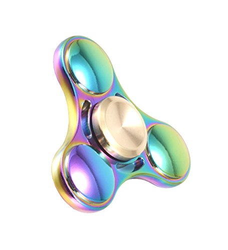Price comparison product image Hundromi Fidget Spinner Metal Material Hand Spinner EDC ADHD Focus Anxiety Stress Relief Boredom Killing Time Toys for Kids and Adult(Fashion Elfin Rainbow)