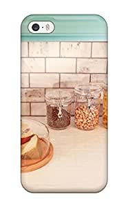 Aarooyner Iphone 5/5s Well-designed Hard Case Cover Subway Tile Backsplash With Blue Cabinetry Protector