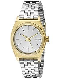 Nixon Women's The Small Time Teller Gold/Silver/Silver