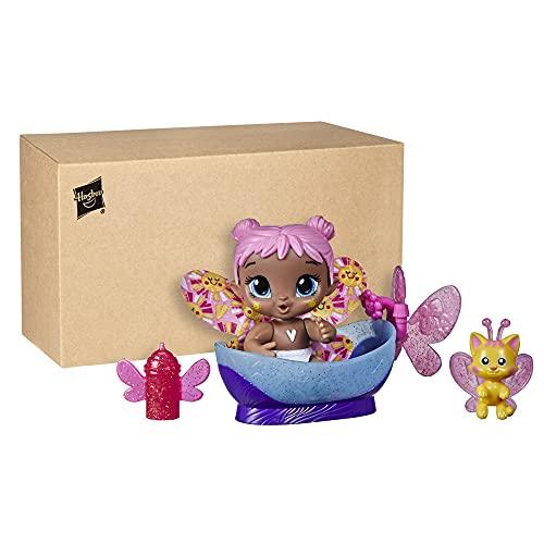 Baby Alive Glo Pixies Minis Doll, Bubble Sunny, muñeca que brilla en la oscuridad para niños de 3 años en adelante, juguete Pixie de 3,75 pulgadas con amigo sorpresa