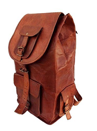 Leather Bag Real Genuine 16 Inch Backpack Bag/College by Pranjals house
