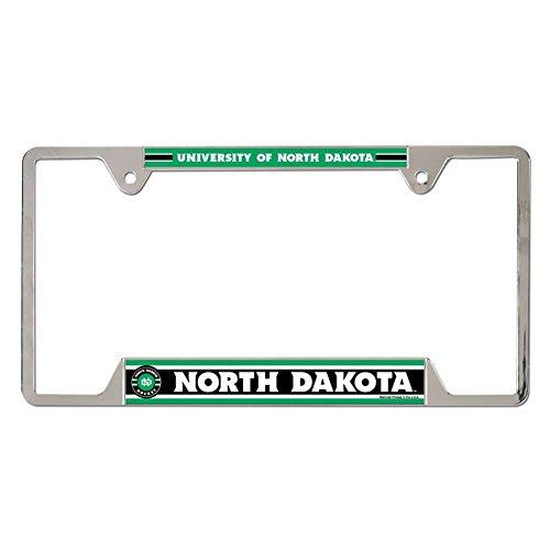 Christmas Plate University (WinCraft North Dakota University Metal Chrome License Plate Frame)