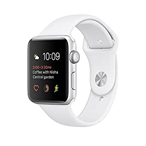 41H7uDWzJlL. SS300  - Apple watch series 2 42mm ALUMINUM Case SPORT (Silver Aluminum Case with White Sport Band)