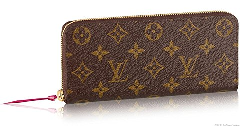 Louis Vuitton Monogram Canvas Clemence Wallet Hot Pink Article: