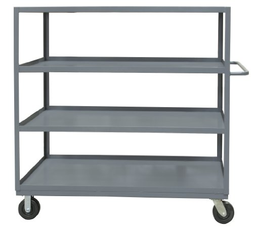 Durham-14-Gauge-Steel-Rolling-Service-Stock-Cart-RSC-3060-4-3K-95-3000-lbs-Capacity-4-Shelves
