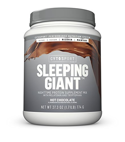 Cytosport Sleeping Giant Nighttime Protein Supplement Mix with Melatonin and Tryptophan, Hot Chocolate, 1.71 Pound