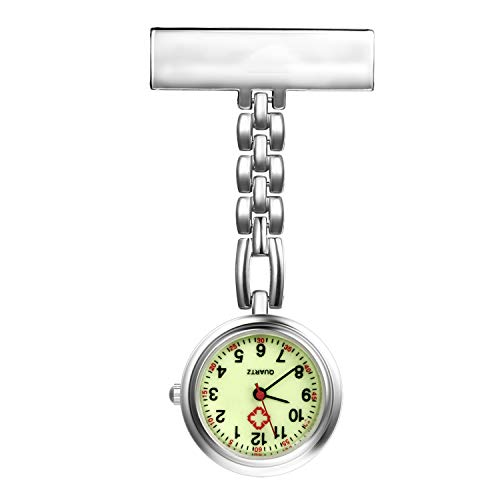 Nurse Watch with Second Hand for Women and Men 1-5 Pack Simple Classic Nurses Doctors Paramedic Tunic Lapel Pin-on…