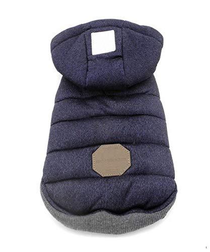 Dog Coat,Rdc Pet Dog Hoodie Warm Dog Apparel Winter Clothes Dog Cozy Jacket for Small Dog Medium Dog Cat (XXL, Blue)