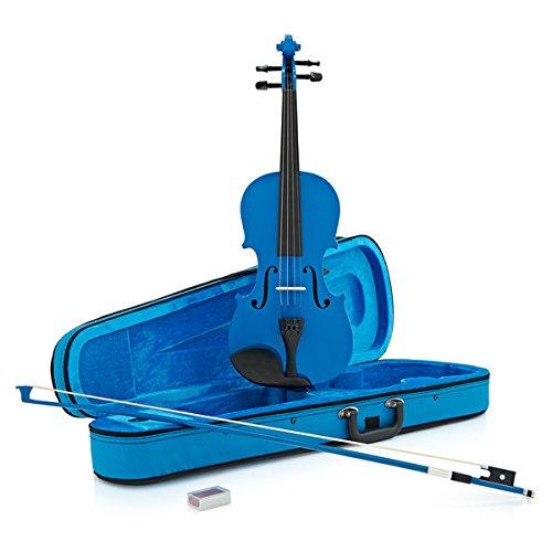 Studenten-Violine in 4/4-Größe in blau - von Gear4music