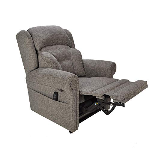 British Made - Cullingworth Dual motor riser recliner chair - Powered headrest and lumbar control - 5 Year Warranty - Free Home Installation