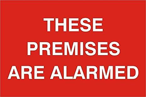 Estos locales son alarma 1 mm plástico PVC sign 300 x 200 mm ...