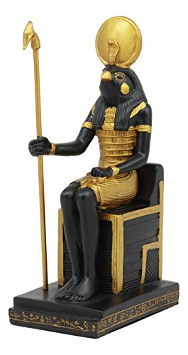 Ebros Classical Egyptian Gods and Goddesses Seated On Throne Statue Gods of Egypt Ruler of Mankind Decorative Figurine (Horus God of The Sky)