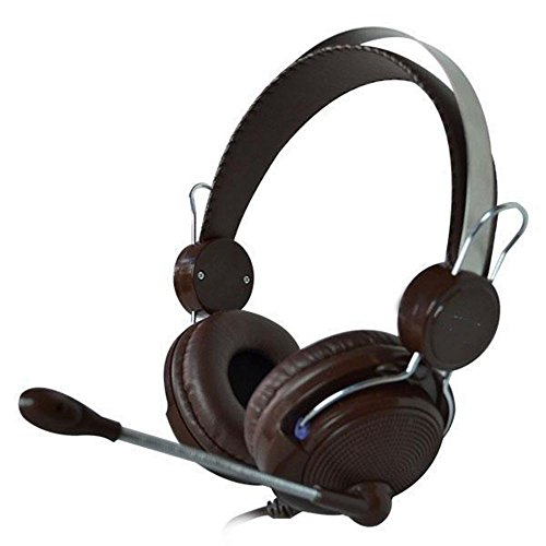 XHKCYOEJ Headset Stereo Headset/Headphones/Headphones/Music/With Wheat/Stereo/Headphones,Brown: Amazon.co.uk: Electronics