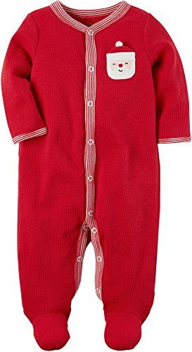 Carter's Baby Boys' Santa Thermal Snap Up Sleep And Play Newborn (Sleeper First Christmas)