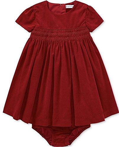 Ralph Lauren Infant Dresses (Ralph Lauren Girls Taffeta Dress, Holiday Tartan Color, Size 24 Months)