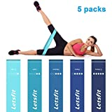 Cheap Letsfit Resistance Loop Bands, Exercise Bands Women, Fitness Resistance Band Perfect Fitness Injury Rehabilitation Body Shaping Weight Loss Yoga Booty Building w/Carry Bag