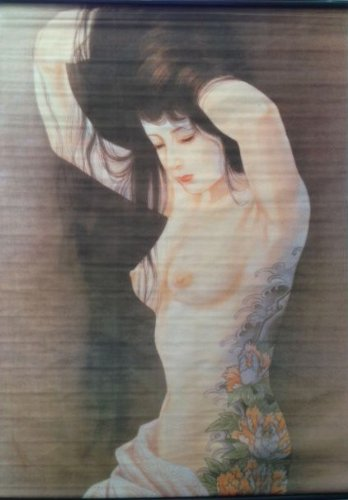 Tattoo Japanese Lady Wall Scroll R30