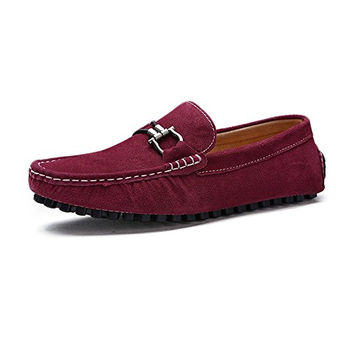 on Vino Slip guida Mocassini Flat metallo pelle Mocassini in morbida Shoes barca automatici in con da da Isbxn in da bottoni vera uomo vera Mocassini Fashion pelle Business Scarpe fSw4Sqdx